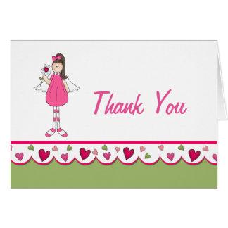 Coeurs et carte de note de Merci d'anges