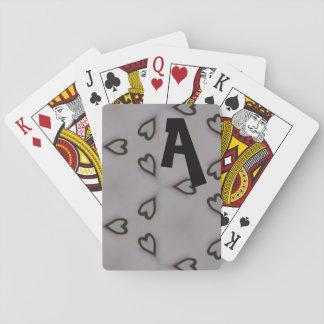 Coeurs modelés cartes à jouer