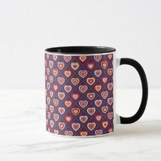 Coeurs multicolores mug