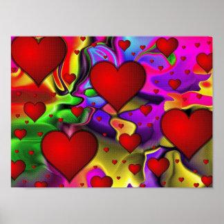 Coeurs psychédéliques poster