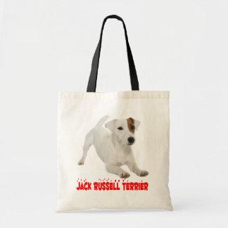 Coeurs rouges d'amour de chiot de Jack Russell Tote Bag