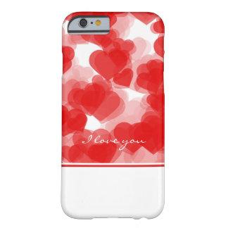 coeurs rouges doux avec la déclaration de l'amour coque iPhone 6 barely there