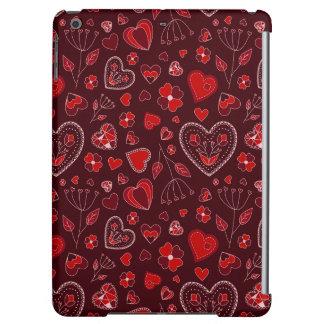 Coeurs rouges et iPad intuitif de caisse de fleurs