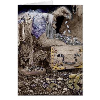 Coffre au trésor Troll Cartes De Vœux