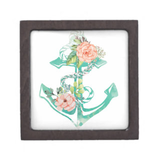 Coffret A Bijoux Ancre et roses