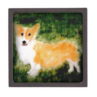 Coffret A Bijoux Art mignon de chien de corgi
