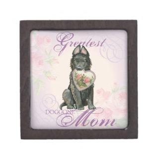 Coffret A Bijoux Maman belge de coeur de chien de berger
