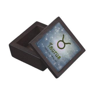 Coffret A Bijoux Signe de zodiaque de Taureau de couleur de