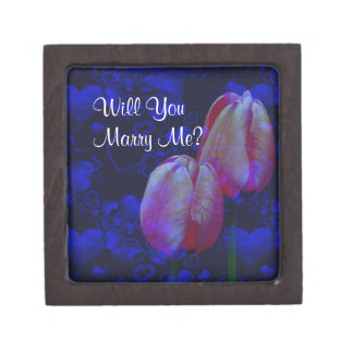 Coffret Cadeau De Première Qualité Épousez-moi fiançailles floral de tulipes de