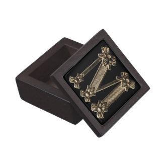 Coffret Cadeau De Première Qualité Initiale ou monogramme d'or de la lettre M