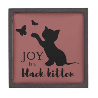 Coffret Cadeau De Première Qualité La joie est un chaton noir