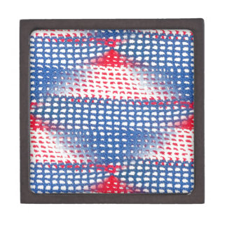 Coffrets Cadeaux De Première Qualité Belle boîte-cadeau à crochet blanche et bleue