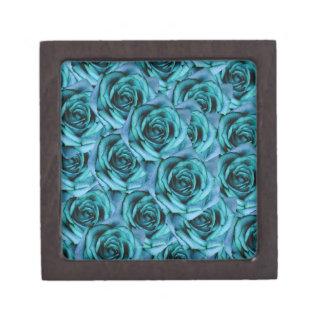 Coffrets Cadeaux De Première Qualité Petite boîte de souvenir de roses bleus
