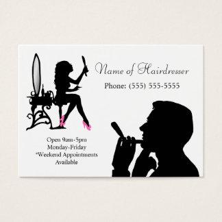 Coiffeur noir et blanc pour les hommes et des cartes de visite