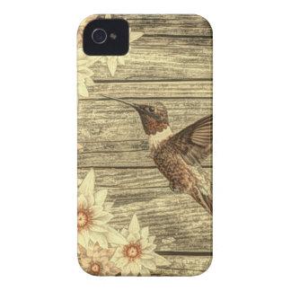 Colibri français en bois de pays de marguerite étui iPhone 4