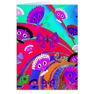 Collage 2 du papillon de l'enfant de filles de carte de vœux