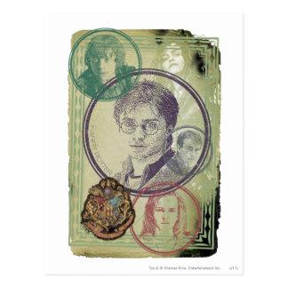 Collage 9 de Harry Potter Carte Postale
