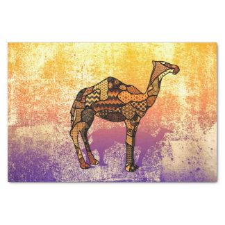 Collage abstrait Ozzy le chameau ID102 Papier Mousseline