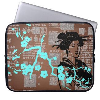 Collage asiatique vintage housse pour ordinateur portable