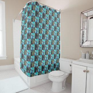 Collage de contrôleur de mer rideaux de douche