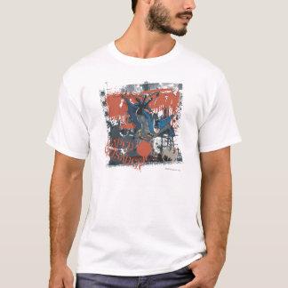 Collage de croisé de cap t-shirt