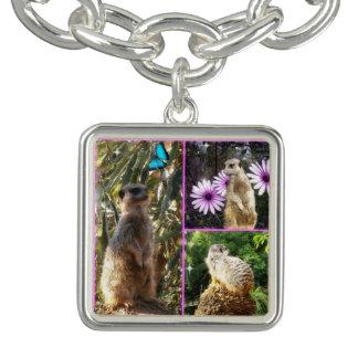 Collage de photo de Meerkat, bracelet de charme