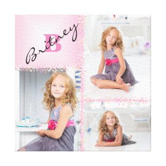 Collage de photo de monogramme de filles toiles