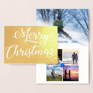 Collage de photo de Noël de relief par tache Foil Card