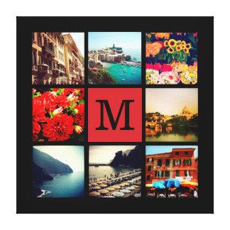 Collage fait sur commande de photo d'Instagram de  Toiles