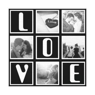 Collage noir et blanc de photo d'amour toiles