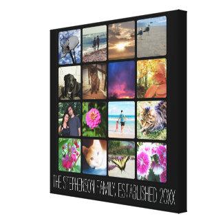 Collage ou Instagram de photo de seize coins Toiles