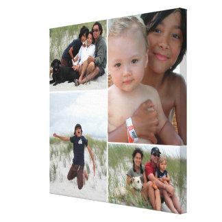 Collage personnalisable de photo de famille toiles