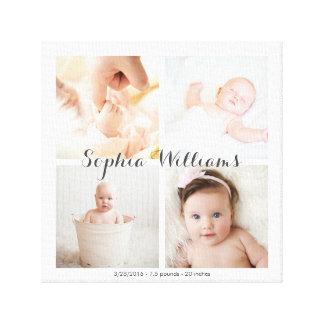 Collage simple et moderne de crèche de bébé de toiles