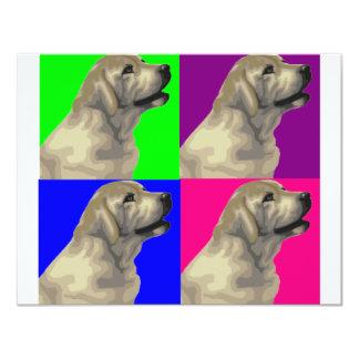 Collage van de Kleur van Labrador de Heldere 10,8x13,9 Uitnodiging Kaart