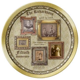 Collage van de Lijsten van het Jubileum van de Porselein Bord