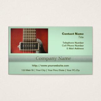 Collecte rouge de guitare de HollowBody Cartes De Visite