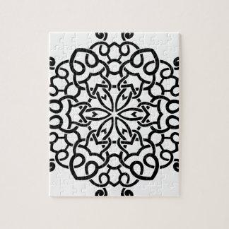 Collection de mandala de concepteurs : beige noir puzzle
