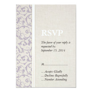 Collection de mariage de lavande de SmartElegance Carton D'invitation 11,43 Cm X 15,87 Cm