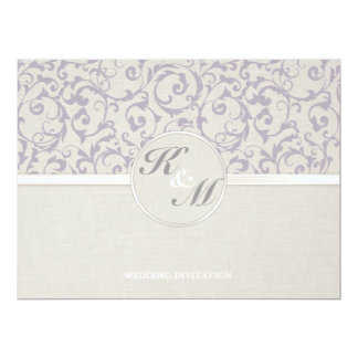 Collection de mariage de lavande de SmartElegance Carton D'invitation 16,51 Cm X 22,22 Cm