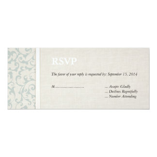 Collection de mariage de SmartElegance SeaSpray Carton D'invitation 10,16 Cm X 23,49 Cm