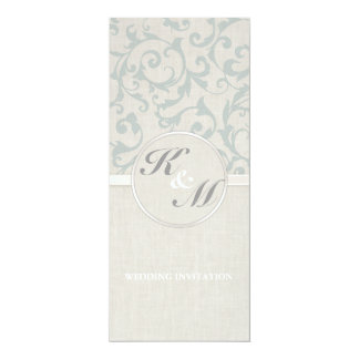 Collection de mariage de SmartElegance SeaSpray Carton D'invitation 10,16 Cm X 23,49 Cm