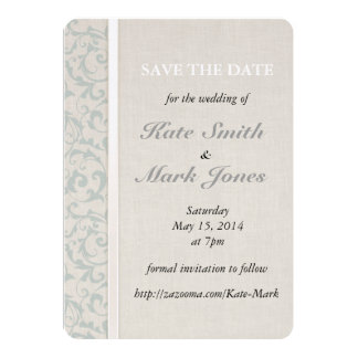 Collection de mariage de SmartElegance SeaSpray Carton D'invitation 12,7 Cm X 17,78 Cm