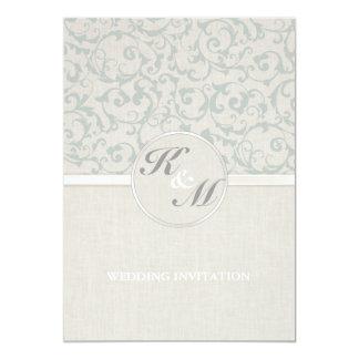 Collection de mariage de SmartElegance SeaSpray Carton D'invitation 12,7 Cm X 17,78 Cm
