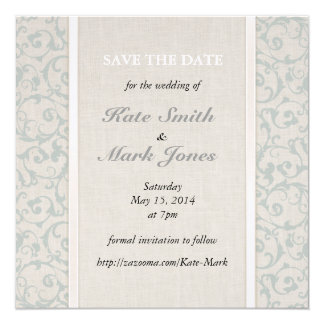 Collection de mariage de SmartElegance SeaSpray Carton D'invitation 13,33 Cm