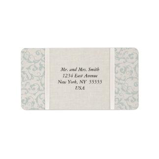 Collection de mariage de SmartElegance SeaSpray Étiquettes D'adresse