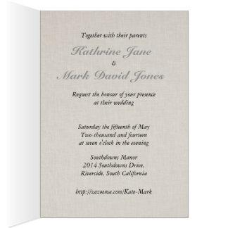 Collection grise de mariage de SmartElegance Carte