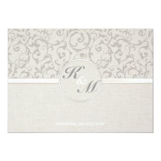 Collection grise de mariage de SmartElegance Carton D'invitation 12,7 Cm X 17,78 Cm