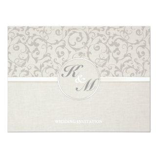 Collection grise de mariage de SmartElegance Carton D'invitation 16,51 Cm X 22,22 Cm