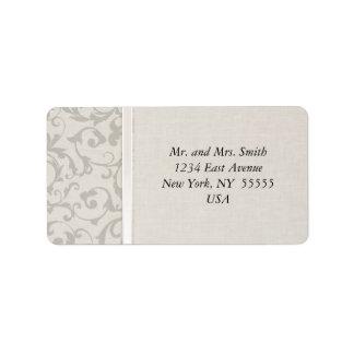 Collection grise de mariage de SmartElegance Étiquette D'adresse