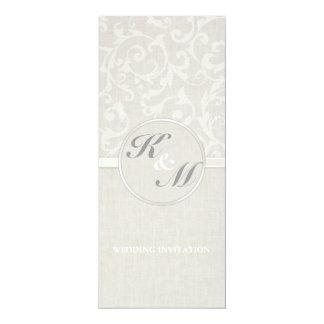 Collection naturelle de mariage de SmartElegance Carton D'invitation 10,16 Cm X 23,49 Cm